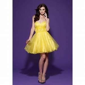 Short yellow home ing dresses