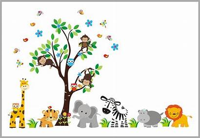Jungle Decals Nursery Safari Stickers Theme Playtime