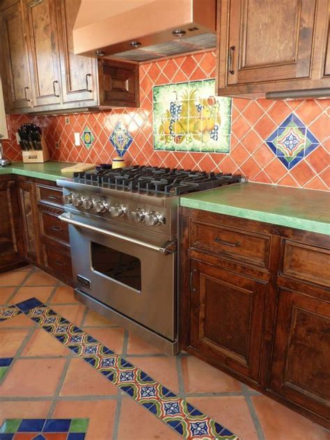 mexican tile kitchen backsplash cocinas r 250 sticas de madera piedra ladrillo y dise 241 os 7485