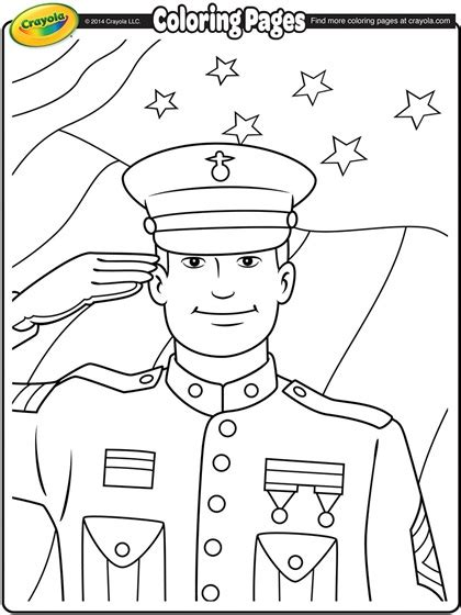 veterans day coloring page veterans day soldier coloring page crayola