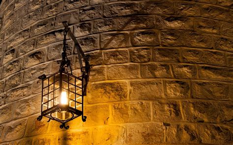 wall l light brick wall curved metal light bulb lantern