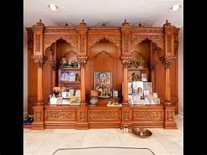 Latest Wooden Pooja Room Designs/Puja Mandir Designs - YouTube