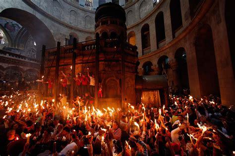 ostern christen aus aller welt feierten  jerusalem