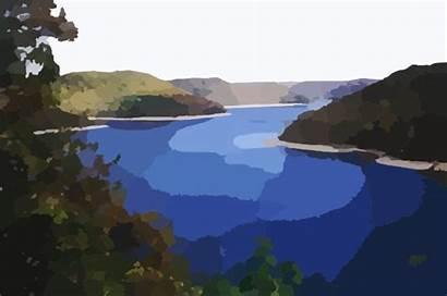 Lake Clipart Clip Water Scene Lakes Vector