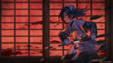 laptop anime kimetsu  yaiba wallpapers wallpaper cave