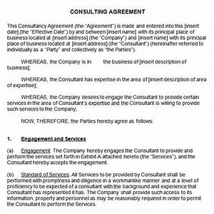 sample consulting agreement 9 documents in pdf word With contract templates for consultants