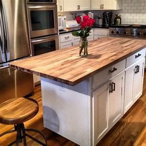 Butcher block kitchen island - Material Countertop of