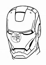 Iron Coloring Printable Mask Pages Ironman Cartoons sketch template