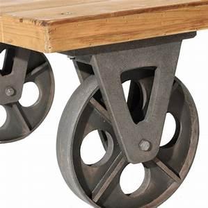 Roue Table Basse : table basse industrielle sur roues esprit d 39 autrefois ~ Teatrodelosmanantiales.com Idées de Décoration