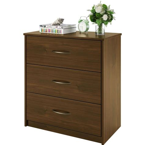 Modern Bedroom Dressers by 3 Drawer Dresser Chest Bedroom Furniture Black Brown White