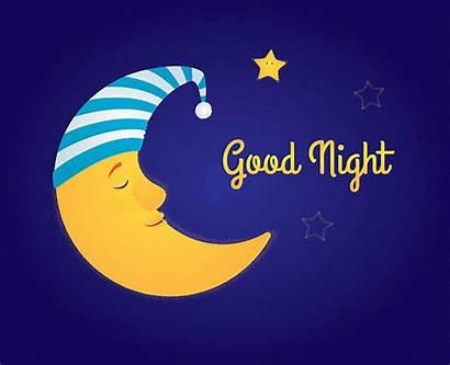 Moon Night Clipart Stars Cartoon Vector Illustration