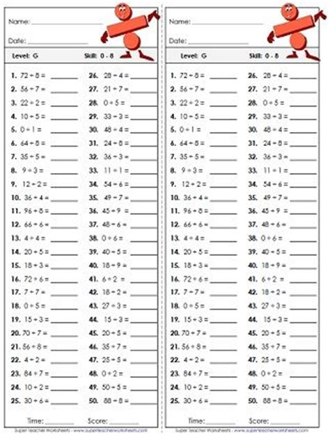 basic division worksheets multiplication  division