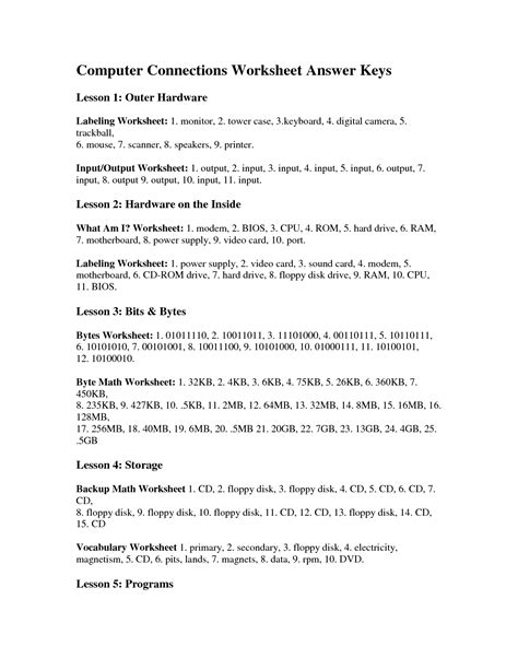 images  computer labeling worksheets