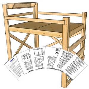 size loft bed plans height op loftbed