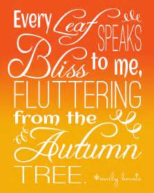fluttering leaves fall quote by emily bronte free printable