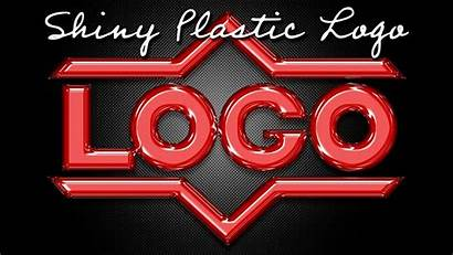 Photoshop Text Shiny Plastic Graphics Create Graphic