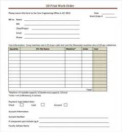 Work Order Form Template Excel Work Order Template 16 Free Documents In Pdf Word