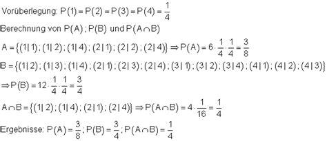 bedingte wahrscheinlichkeit mathe brinkmann