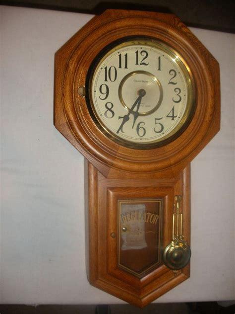 vintage regulator classic manor quartz battery wall clock