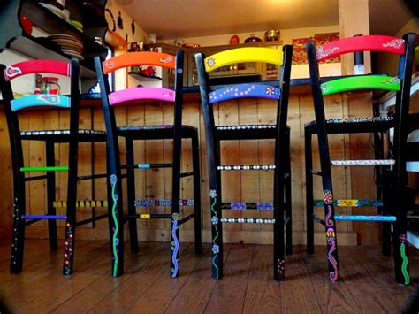 painted funky chairs to order