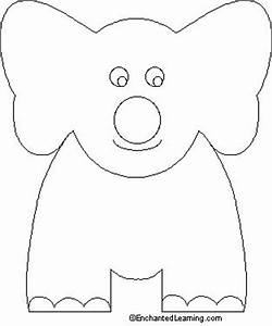 Letter e elephant we colored in elephant finger puppets for Elephant template for preschool