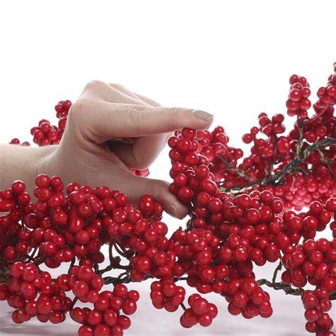red artificial berry garland garlands floral supplies