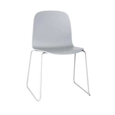 chaise gris clair chaise visu gris clair muuto mobilier smallable