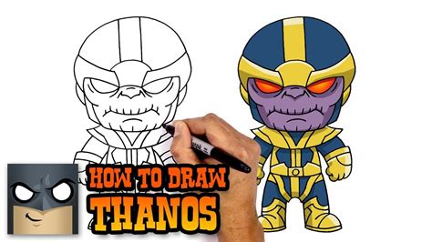 draw thanos step  step drawing tutorial youtube