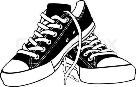shoe clipart black and white illustration of shoes isolated on white stock vector