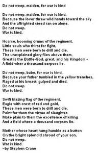 Famous Poems About War
