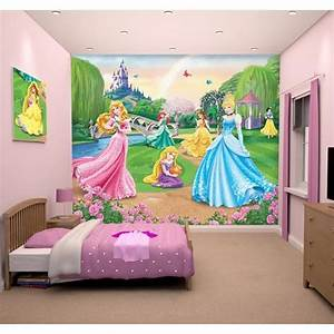 Fresque Murale Papier Peint : papier peint enfant disney princesses fresque murale d corative achat vente stickers cdiscount ~ Melissatoandfro.com Idées de Décoration