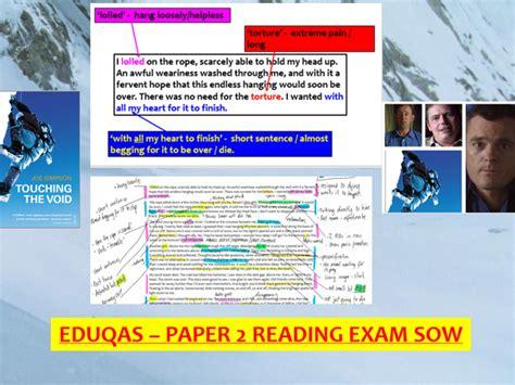 English language paper 2, question 5: EDUQAS GCSE English Language - Paper 2 reading SOW   Teaching Resources