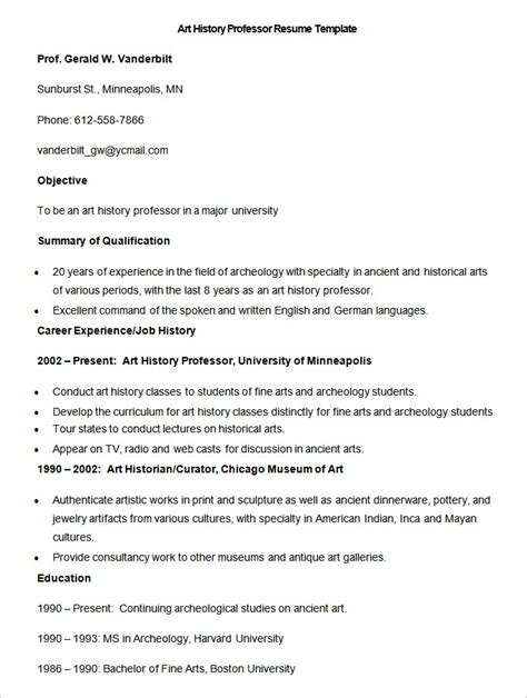 Professor Resume Format by 51 Resume Templates Free Sle Exle Format Free Premium Templates