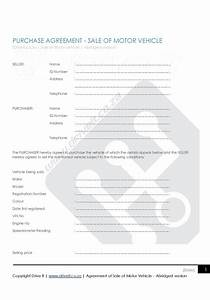 Sample Motor Vehicle Sale Agreement Contract 2 Agreement To Sell Car Abridged Version
