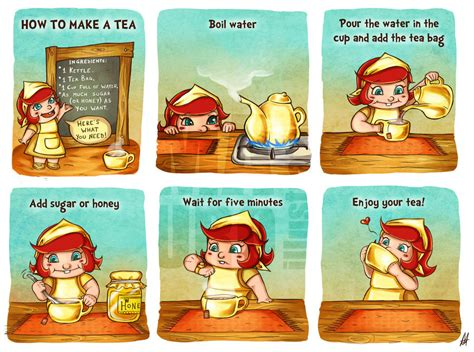 how to make tea how to make a tea part 2 by mauroillustrator on deviantart