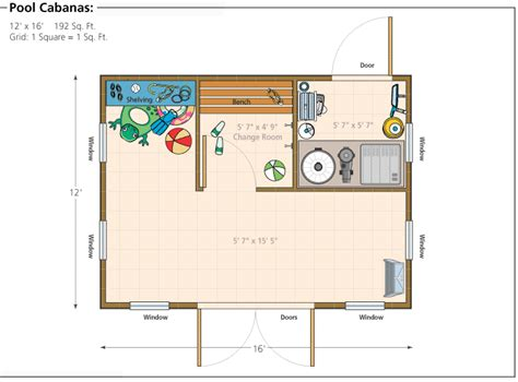 10x20 Shed Floor Plans by Pool House Floor Plans Or By Floor Plans 16 Cabana