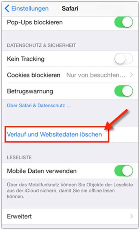 iphone  browserverlauf und cookies loeschen anleitung