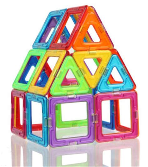 Discovery Magnetic Building Tiles by Magformers Rainbow 30 Building Set 730658630761