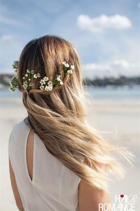 diy bridal beauty a twist on the beach bride hair romance