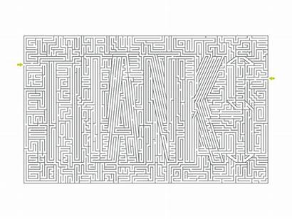 Maze Thank Card Muncie Pencil Dribbble Date