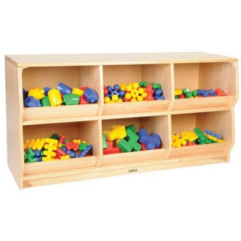 premium solid maple preschool play bin storage 202   1640p