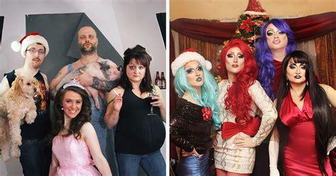 family takes  kinds  christmas family