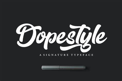 dopestyle script font befontscom