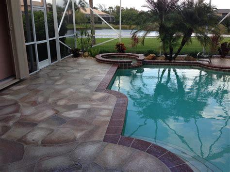 concrete designs florida flagstone patio