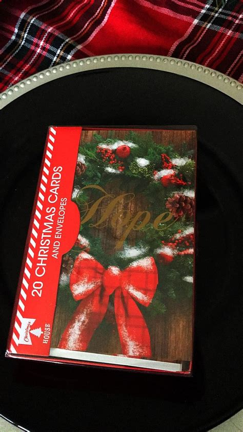 Order today with free shipping. Hope Christmas Cards 2018 Dollar Tree 20 cards for a dollar 🖤 | Hope christmas, Christmas cards ...