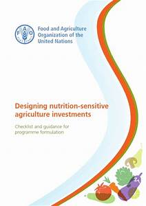 Fao Launches A Manual To Guide Nutrition