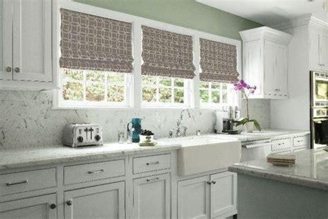 roman shades traditional kitchen atlanta  smith