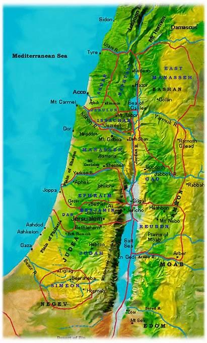 Cities Refuge Joshua Six Inheritance Land Tribes