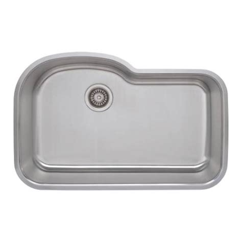 18 kitchen sinks stainless steel sinkware 18 offset single bowl undermount 8967