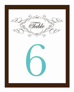 My road to the altar do it yourself wedding invitations rsvp cards table numbers and programs for Free table number templates